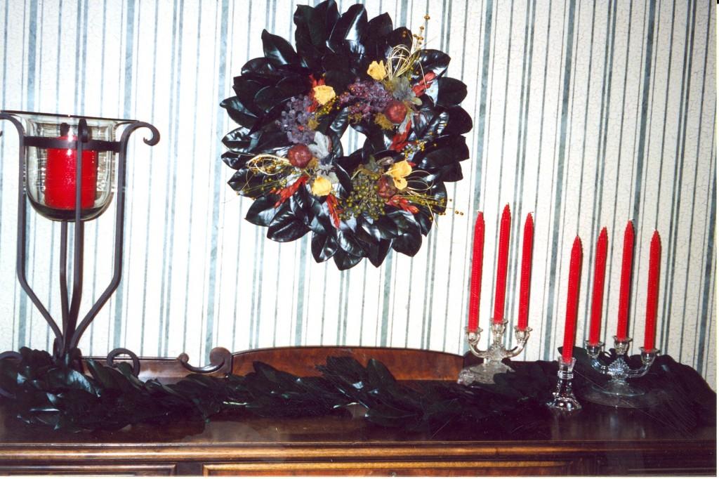 Custom Decorated Magnolia Wreath
