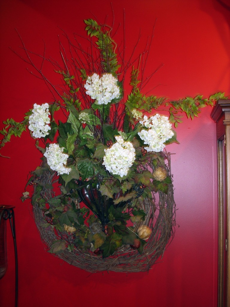 Large vase wreath
